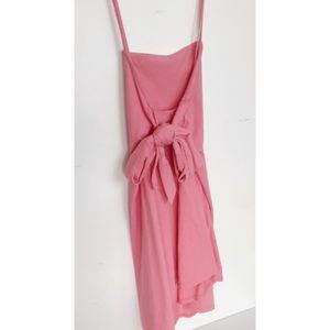 Asos Pink Spaghetti Strap Bow Mini Dress